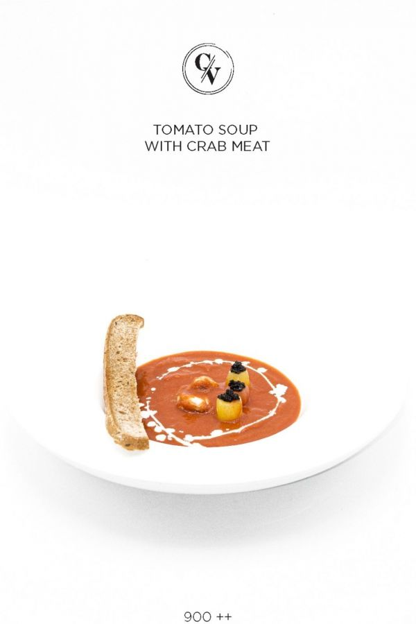 Caviar Cafe : TOMATO WITH CRAB MEAT